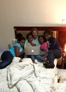 First night as a family in Ethiopia